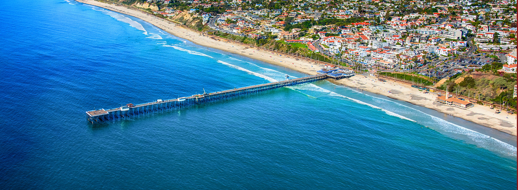 The Orange County California coastal town of San Clemente located just north of San Diego County.